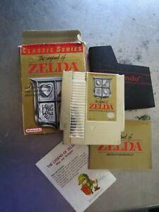 The Legend of Zelda Nintendo NES Gold Cartridge Classic Series 1992 Bundle 1985