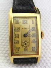 Bella vecchio orologio da polso revue GT 585/- Oro cal.54