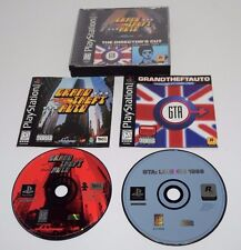 Playstation PS1 GRAND THEFT AUTO THE DIRECTOR'S CUT Game With Instructions