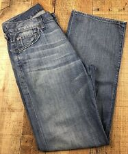 7 for all mankind Relaxed Fit Full Leg Distressed Women's Jeans, Sz 29x31