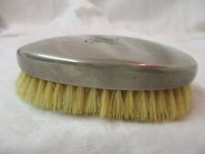 Vintage Silver Plated Hair Clothes brush mono HL
