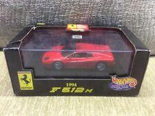 FERRARI F512M COUPE RED / BLACK INTERIOR 1:43 MATTEL MODEL * BOXED *