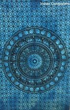 Wall Poster Tapestry Tie-Dye Handmade Cotton Manda Blue Indian Table Cloth Small