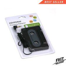 More details for car casette tape adapter aux jack converter adapters universal 3.5mm jack black