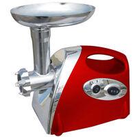 1200W S/S MEAT GRINDER ELECTRIC MINCER SAUSAGE MAKER MACHINE FILLER  RED NEW