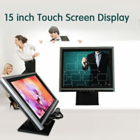 """15"""" LED Touch Screen VGA TouchScreen Monitor Commercial for Retail Kiosk"""