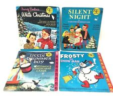 CHRISTMAS Golden Record 1950's Lot 4 Vintage lp Frosty Drummer Boy Silent Night