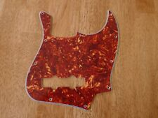 PICKGUARD RED TORTOISE SHELL 4 PLY FOR JAZZ BASS