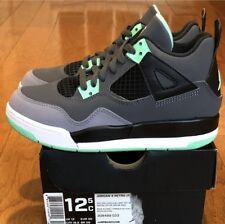 """DS 2013 Air Jordan 4 Retro PS """"Green Glow"""" sz 12.5c Pre School"""