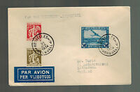 1934 Brussels Belgium to Liverpool England first flight cover FFC Sabena