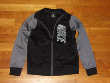 NIKE FULL ZIP BLACK/GRAY ATHLETIC JACKET BOYS SIZE 5-6 EXCELLENT CONDITION
