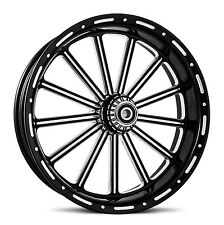 "DNA ""THIRTEEN"" CONTRAST CUT FORGED BILLET 16"" X 3.5"" REAR HARLEY TOURING WHEEL"