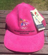 NWT Nagano Winter Olympic Corduroy Ski Hat Cap Fuchsia