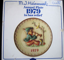 M. J. Hummel 9th Annual 1979 Collector Plate Goebel Singing Lessons New in Box
