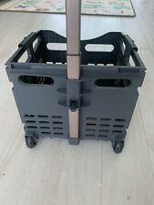 Topeak Rear Back Cargo Trolley Folding Basket W/Wheels Used