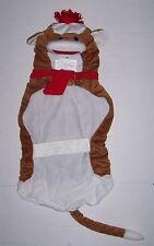 NWT Plush Sock Monkey Pet Costume Large -  Dog clothes Halloween