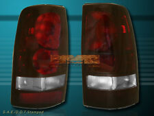 99-02 CHEVY SILVERADO / 99-03 GMC SIERRA 1500/2500 TAIL LIGHTS DARK RED LENS