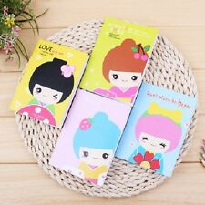 A set of 4 Color Pages Mini  Study Notebook Cute japanese girls