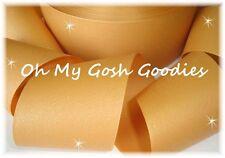 "3"" GLITTER SOLID GROSGRAIN CHEER CHEERLEADER SPIRIT TEAM RIBBON 4 HAIRBOW GOLD"