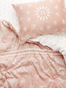 Dormify Misty Rose Bandana Print Reversible Duvet & Sham Set Twin Extra Long XL