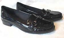 """EUC **LIFE STRIDE**  """"Kissed"""" Loafer, Faux Black Patent Leather,  8.5 M"""