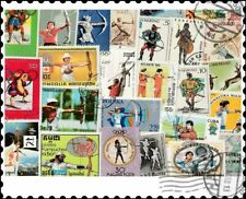 More details for archery : 40 different stamps collection