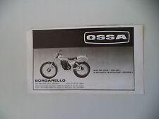 advertising Pubblicità 1981 MOTO OSSA 350 TRIAL YELLOW
