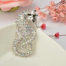 Kristall Seepferdchen Form Brosche Nadeln Mode Damenschmuck Geschenk