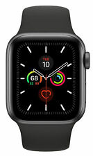 Apple Watch Series 5 Space Gray Aluminum Black Sport Band Model A2092 BRAND NEW