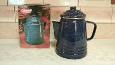 BRAND NEW IN BOX COLEMAN ENAMELWARE 9- CUP COFFEE PERCOLATOR POT **GREAT FIND**