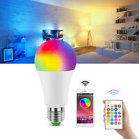 Dimmable RGB RGBW E27 LED Light Bulb Wireless Bluetooth APP Remote Control Lamp