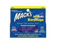 Macks MACK'S #12 AQUA BLOCK Learn to Swim Earplugs Swimming Ear Plug Putty 2prs
