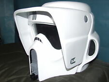 STAR WARS FIBREGLASS BIKER SCOUT HELMET FULL SIZE WITH INNER FOAM WEARABLE