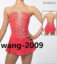 Figure Skating Competition Dress Ice Skating Training Dress Girl Costume coral