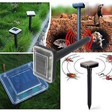 1PC Solar Power Ultrasonic Mouse Mole Pest Rodent Repeller Repellent Yard ES