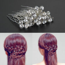 40Pc Clear Crystal Rhinestone Diamante Hair Pins Wedding Bridal Prom Party Gifts
