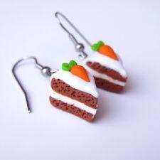 Handmade fimo carota cake il fimo miniatura food IDEA REGALO Orecchini Gioielli
