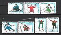 JO Hiver Guinée Bissau (12) série complète de 7 timbres oblitérés