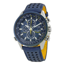 Citizen Eco-Drive World Chronograph A-T Wristwatch Mens Blue Angels AT8020-03L