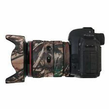 Canon 24-105mm F/4L IS Neoprene Camera Lens Coat Protection Cover Camo Woodland