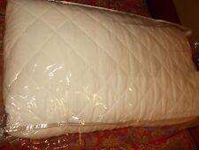 POTTERY BARN BELGIAN FLAX LINEN DIAMOND QUILT, FULL/QUEEN, WHITE