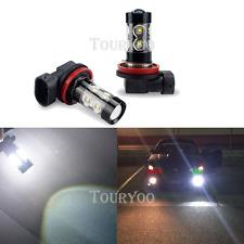 2x 50W Fog Light H11 H9 H8 6000K White LED Bulbs for Chevy Cruze Equinox 2400LM
