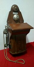 Vintage JYDSK wood metal wallphone telephone antique denmark European telephone