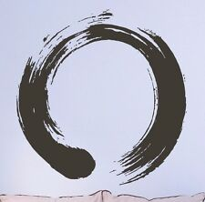 Vinyl Decal Wall Sticker Circle Enso Zen Calligraphy Meditation Nirvana (ig1713)