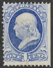 """US Sc# 134 *MINT RG H* { """"H"""" GRILL 1c FRANKLIN } """"SCARCE FROM 1870 CV$ 800.00"""