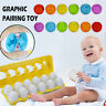 Colour Shape Matching Toy Eggs Set Preschool Childrens Toddler Baby Puzzle Gifts
