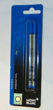 2 GENUINE MONT BLANC PACIFIC BLUE ROLLERBALL REFILLS! GERMANY! MONTBLANC 107882