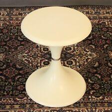 VTG Tulip Side Table Mid Century Modern Round Plastic End Table Pat Pending