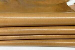 Sand shiny vegetable tan calfskin calf leather 6 skins total 32sqf 1.0mm #A7618