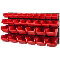 30 SET Lagersichtboxenwand Sichtlagerboxen Stapelboxen mit Montagewand NTBNP3
